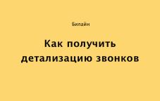 Как получить детализацию звонков Билайн в Казахстане