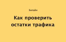 Как проверить остаток трафика на Билайн в Казахстане