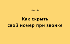 Как скрыть номер на Билайн в Казахстане — инструкция