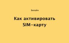Как активировать SIM-карту Билайн в Казахстане — инструкция